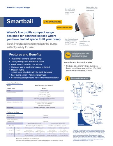Smartbail Manual Bilge Pump