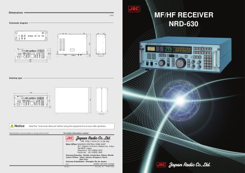 MF/HF Receiver Equipment NRD-630