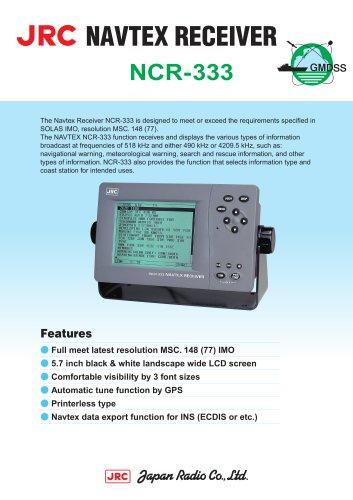 NAVTEX RECEIVER for GMDSS NCR-333