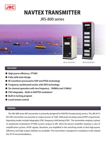 NAVTEX Transmitter Equipment JRS-800series