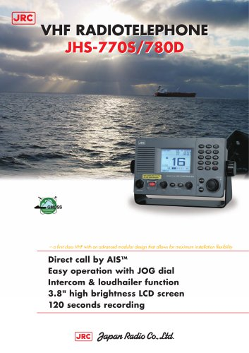 VHF RADIOTELEPHONE JHS-770S/780D