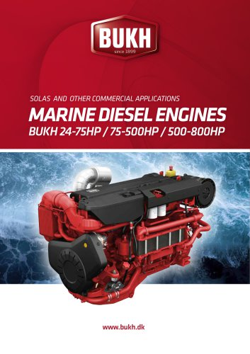 Bukh Product Range 24 - 800 HP