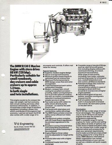 BMW Marine Engine B130 Gasoline