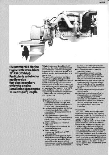 BMW Marine Engine D190 Diesel