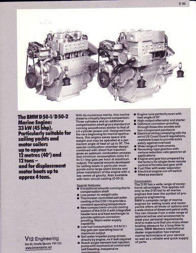 BMW Marine Engine D50 Diesel