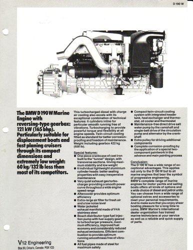BMW Marine Engine D636 Diesel