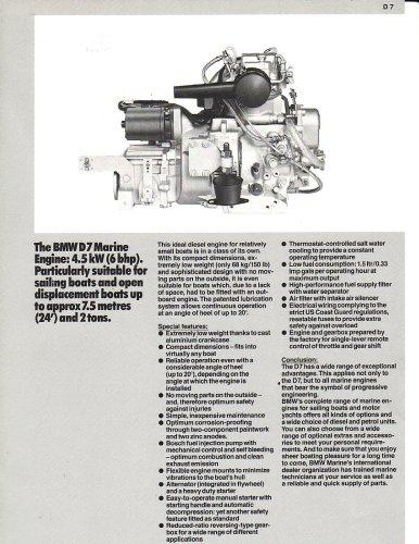 BMW Marine Engine D7 Diesel