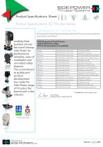 Product Specifications DC Thruster Series