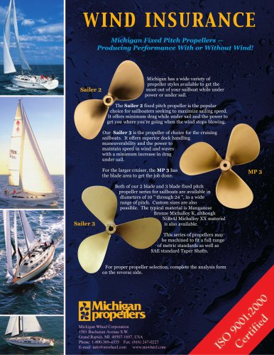 Sailboat Propellers