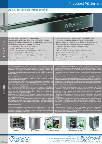 Frigoboat refrigeration cabinets - MS serie