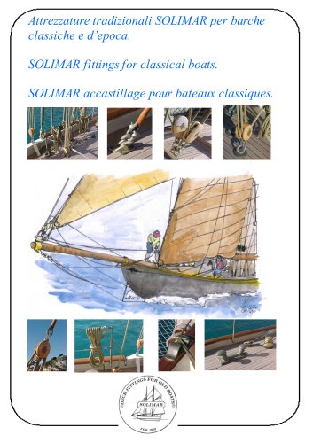 SOLIMAR fittings for classical boats