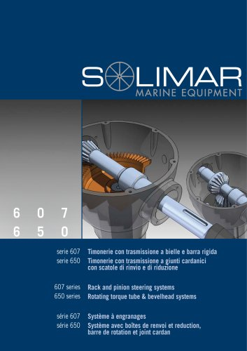 SOLIMAR Rack and pinion steering system - Rotating torque tube & bevelhead systems