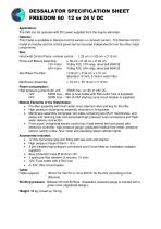 Specification sheet DC Freedom 60