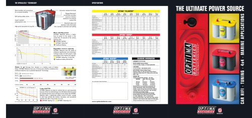 Product brochure - Optima Batteries - PDF Catalogs