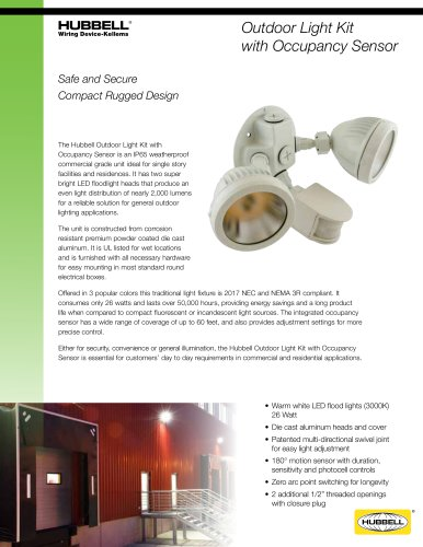 Outdoor Light Kit with Occupancy Sensor