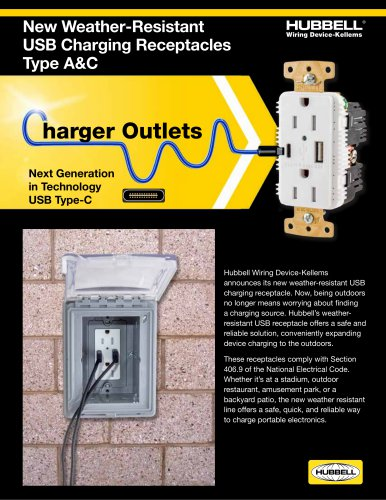 Weather Resistant USB Receptacles