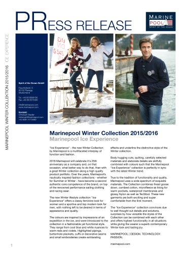 Marinepool Winter Collection 2015/2016