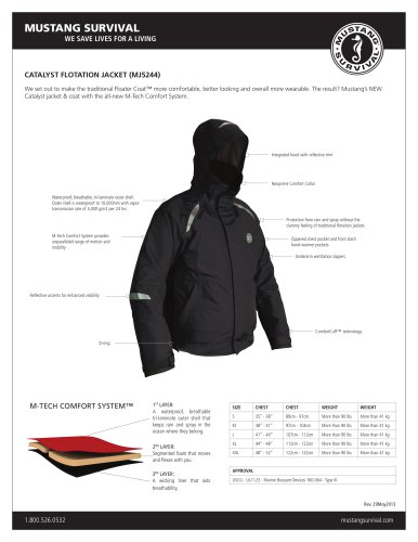 catalyst flotation jacket (Mj5244)