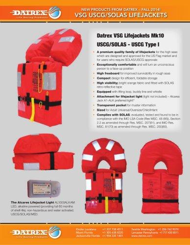 Datrex VSG Lifejackets Mk10 USCG/SOLAS - USCG Type I