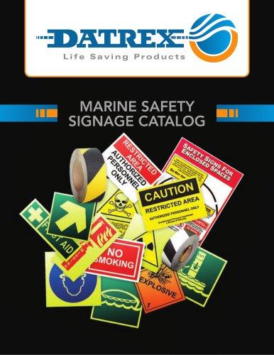 MARINE SAFETY SIGNAGE CATALOG