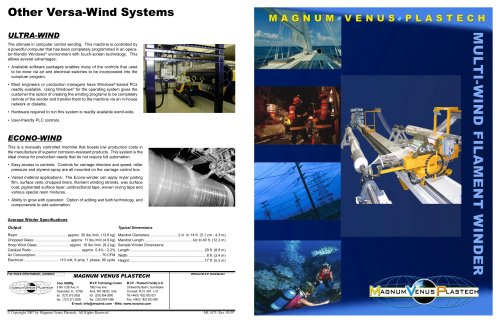 Multi-Wind Filament Winder Brochure-ML1475