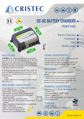 YPOWER DC-DC battery chargers