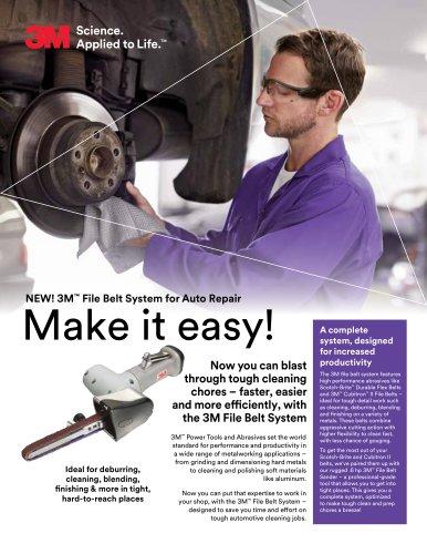 3M™ File Belt System for Auto Repair
