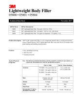 3M™ Lightweight Body Filler TDS_05800, 05801, 05804