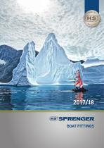 SPRENGER boat fittings catalogue 2017/18