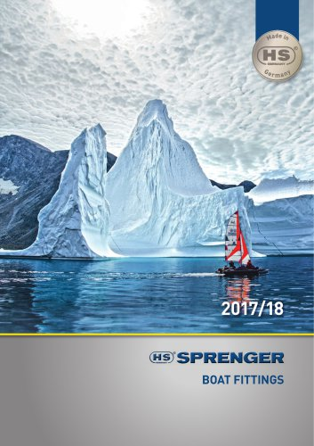 SPRENGER boat fittings catalogue 2017/18