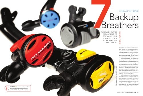 SCUBALAB REVIEWED Backup Breathers