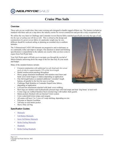 Cruise Plus Sails