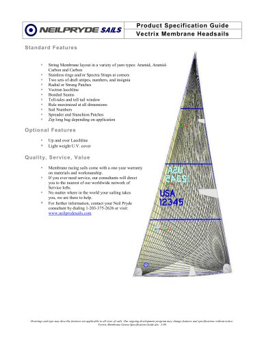 Vectrix Membrane Headsails
