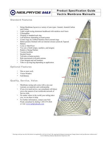 Vectrix Membrane Mainsails