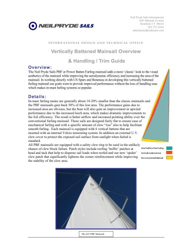 Vertically Battened Mainsail overview