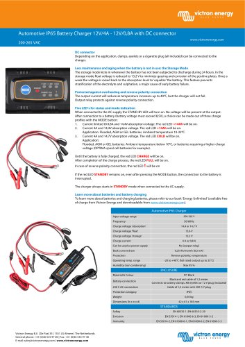 Automotive IP65 Charger 12V 4A - 12V 0,8A with DC connector