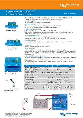 BatteryProtect 65A/100A/220A