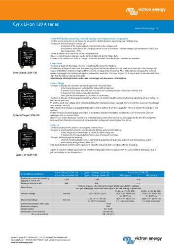 Cyrix Li-ion 120 A series