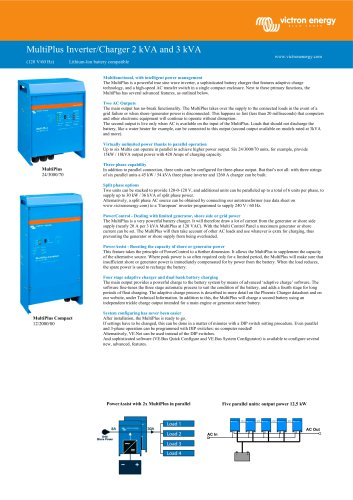 MultiPlus Inverter/Charger 2kVA and 3kVA 120V