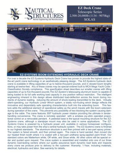 EZ Deck Crane Telescopic Series