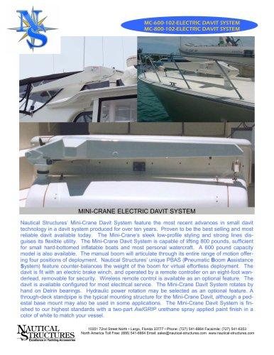 MC-600/MC-800 ELECTRIC DAVIT SYSTEM