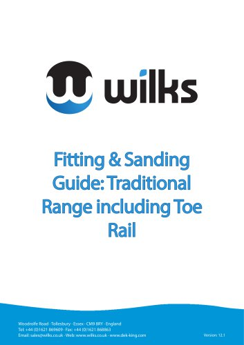 Fitting & Sanding Guide: Traditional Range including Toe Rail