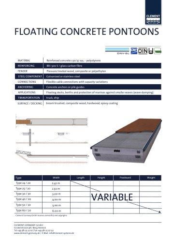 Technical Data Sheet Pontoon