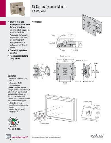 AV - Tilt and Swivel Display Mount (K Series)