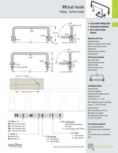 P9 - 90° Infinite Position Folding Handles