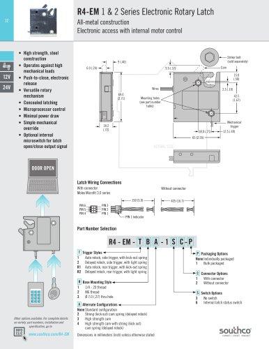 R4-EM - 1 & 2 Series Electronic Rotary Latch