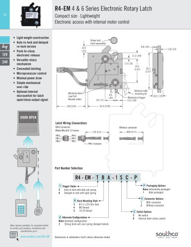 R4-EM - 4 & 6 Series Electronic Rotary Latch