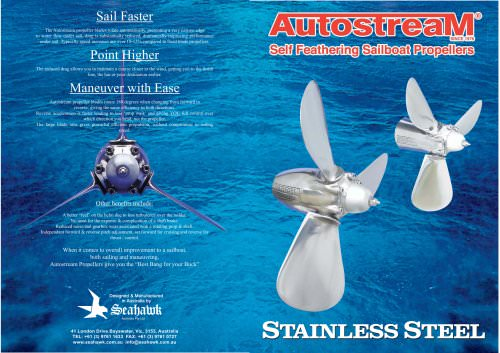 Autostream Self Feathering Propellers