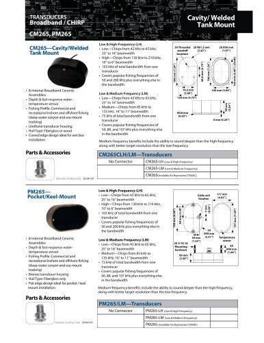 CM265 PM265 Cavity/Welded Tank Mount