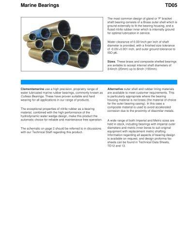 Marine bearing